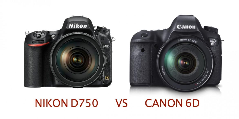nikon d750 vs canon 6d
