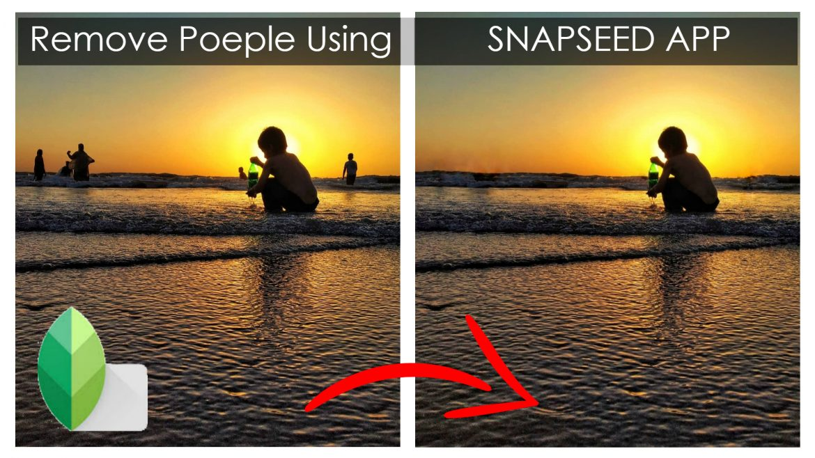 remove people from photo using snapsed